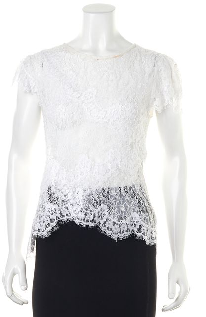 ISABEL MARANT Casual White Lace Blouse Top