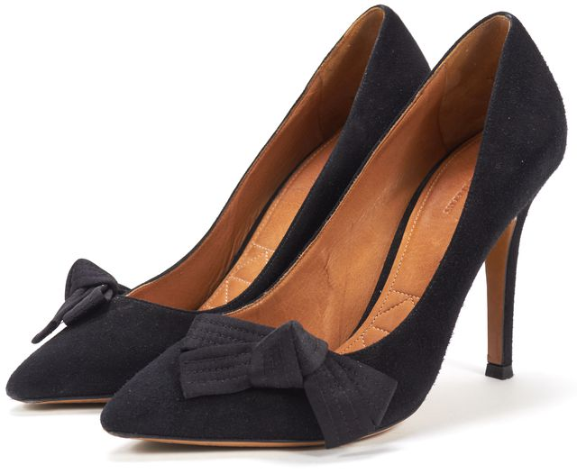 ISABEL MARANT Black Velvet Leather Ki Gong Pointed Toe Pumps