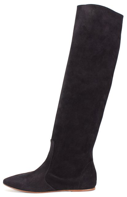 ISABEL MARANT Black Suede Dixie Flat Knee-High Boots