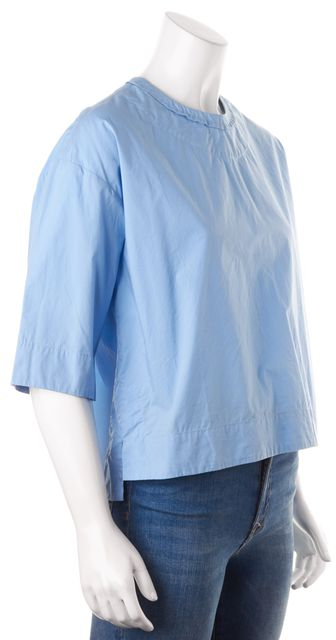ISABEL MARANT Cornflower Blue Boxy Short Sleeve Blouse Top