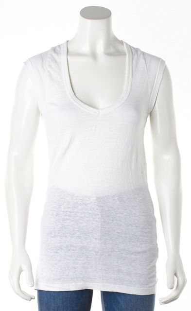 ISABEL MARANT White Linen Tank Top