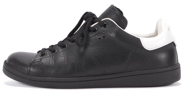 ISABEL MARANT Black & White Leather Sneakers