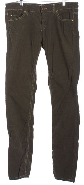 ISABEL MARANT Brown Corduroy Straight Leg Jeans