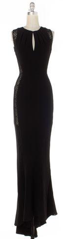 INTERMIX Black Crochet Detail Maxi Dress Size P US XS