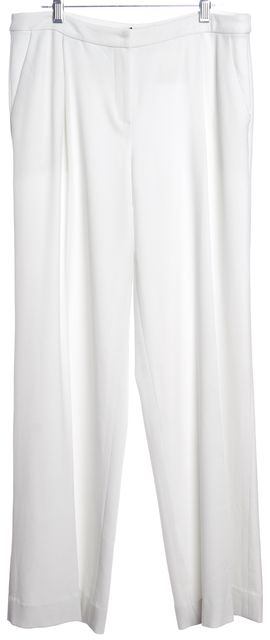 INTERMIX White Wide Leg Pleated Trousers Pants