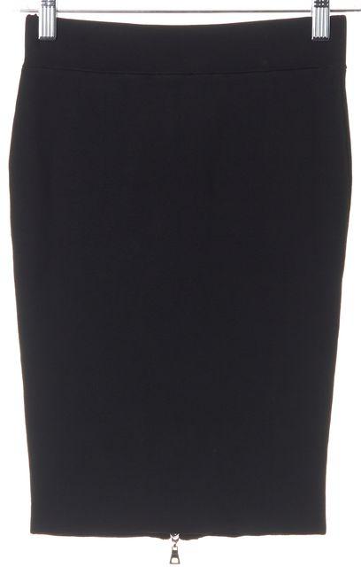 INTERMIX Black Front Back Reversible Full Zip Bodycon Pencil Skirt