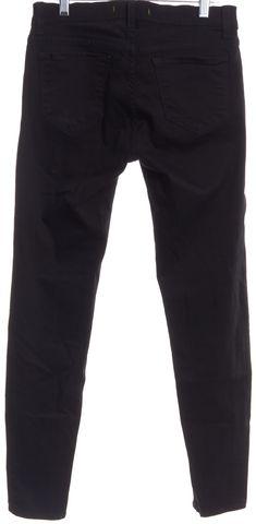 J BRAND #821O241 Black Zipper Detail Slim Skinny Jeans