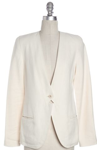 J BRAND Ivory Single Button Blazer Size 2