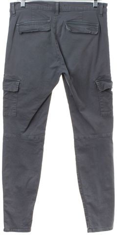 J BRAND Gray Cargo Pocket Ankle Zip Pants