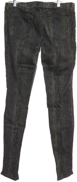 J BRAND Gray Wood Grain Print Skinny Jeans