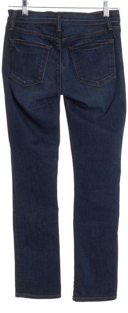J BRAND #8312 Blue Cropped Rail Skinny Jeans