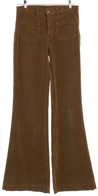 J BRAND #1266 Brown Corduroys Bell Leg Pants