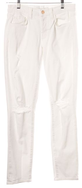 J BRAND White Distressed Caitland White Dreams Jeans