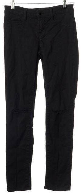 J BRAND #80011 Black Dest Slim Fit Skinny Distressed Knee Casual Jeans