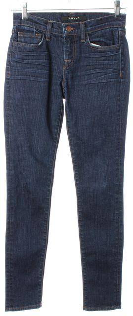 J BRAND #80011 Blue Daphne Medium Wash Mid-Rise Skinny Jeans