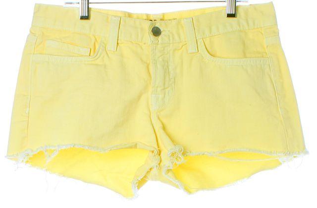 J BRAND #1046 Bright Yellow Cotton Cut-Off Denim Shorts