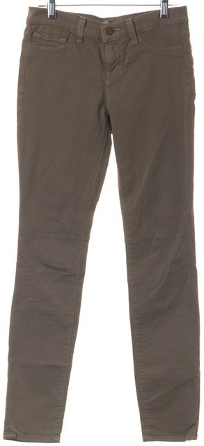 J BRAND #811 Taupe Brown Stretch Cotton The Skinny Casual Pants