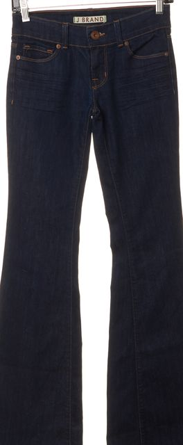J BRAND #722 Blue Dark Wash Mid-Rise Bell Bottom Flare Jeans