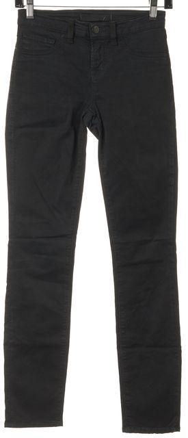J BRAND #811 Black Forest Green Stretch Cotton Denim Skinny Leg Jeans