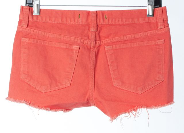 J BRAND #1048 Tangerine Orange Cotton Cut-Off Denim Shorts
