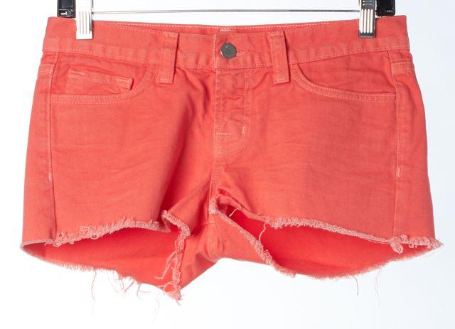 J BRAND #1048 Tangerine Orange Cotton Cut-Off Denim Shorts