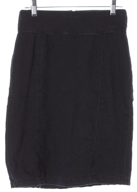 J BRAND #7500 Blue Olympia Stretch Cotton Above Knee Pencil Skirt