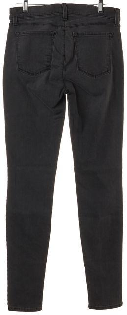 J BRAND #620 Black Night Bird Stretch Cotton Denim Super Skinny Jeans
