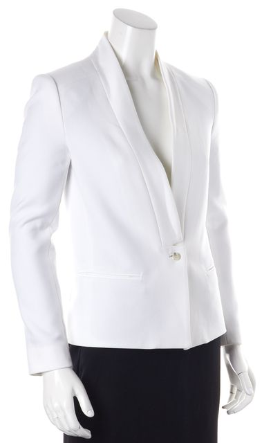 J BRAND White Single Button Pocket Front Blazer