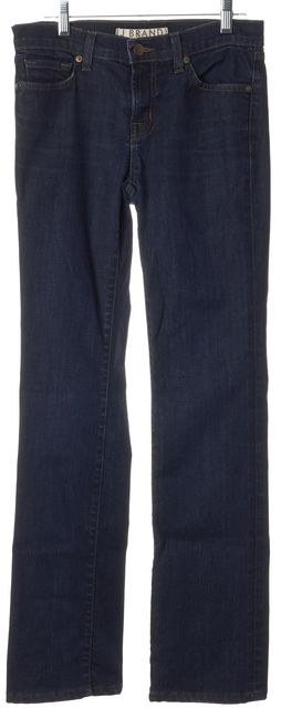 J BRAND #805 Blue Stretch Cotton Mid-Rise Straight Leg Jeans