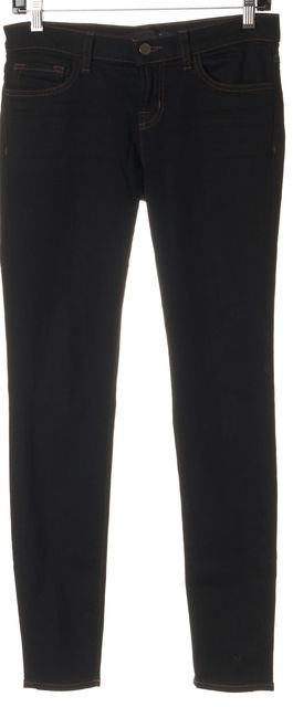 J BRAND #910 Gypsy Black Stretch Cotton Low Rise Skinny Jeans