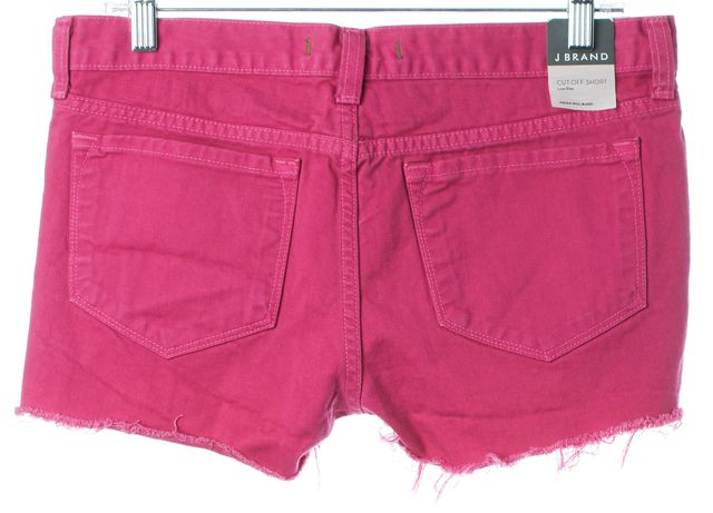 J BRAND #1046 Magenta Pink Cut-Off Low Rise Short Shorts