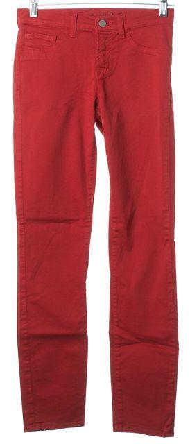 J BRAND #811K Blood Orange Red Skinny Leg Skinny Jeans