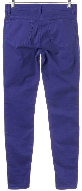 J BRAND #877 Blue Blueberry Kinsey Mid-Rise Skinny Jeans