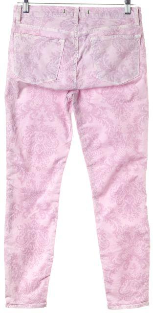 J BRAND #835K Purple Soft Lilac Paisley Print Mid-Rise Capri Jeans