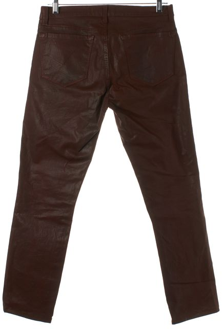J BRAND #912K Clay Brown Coated Pencil Leg Skinny Jeans