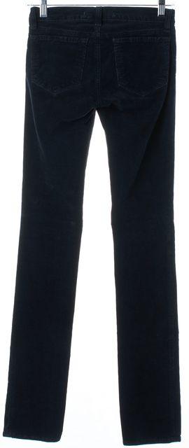 J BRAND Deep Navy Blue Skinny Low-Rise Corduroy Pants