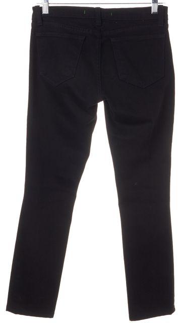 J BRAND #910T Torn Jett Black Distressed Stretch Cotton Skinny Jeans