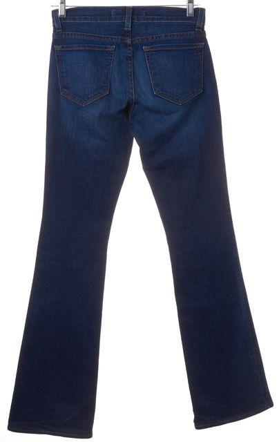 J BRAND #1119 Mayflower Blue Dark Wash Stretch Denim Boot Cut Jeans