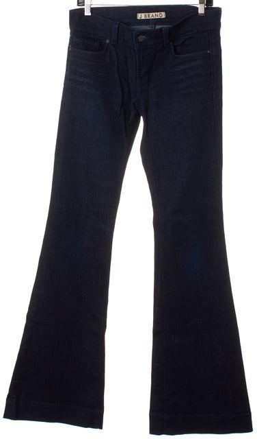 J BRAND #7220 Navy Blue Dark Wash Lovestory Wide Leg Bell Bottom Jeans
