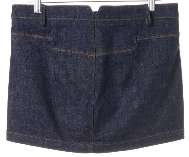 J BRAND #7300 Dark Navy Blue Miner Denim Two Pocket Straight Skirt