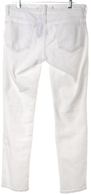 J BRAND #926C White Skinny Mid-Rise Seven-Eighths Jeans