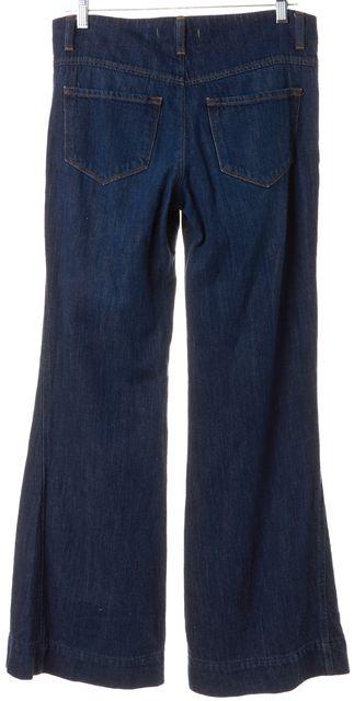 J BRAND Navy Blue Dark Wash Wide Leg Flare Jeans