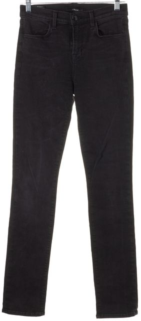 J BRAND #2112 Graphite Black High Rise Rail Skinny Jeans