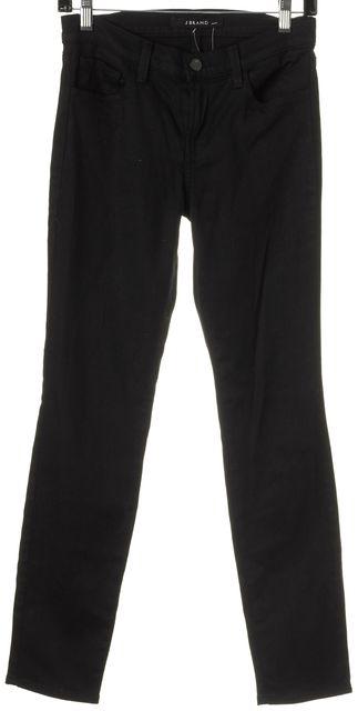 J BRAND #800 Black Mid-Rise Stretch Skinny Jeans