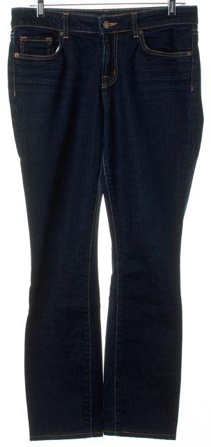 J BRAND #7011 Ink Blue Dark Wash Mid-Rise Skinny Jeans