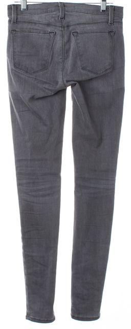 J BRAND #620I Onyx Gray Mid-Rise Super Skinny Jeans