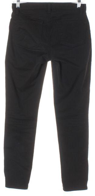J BRAND #8352 Black Stretch Cotton Cropped Zip Skinny Jeans