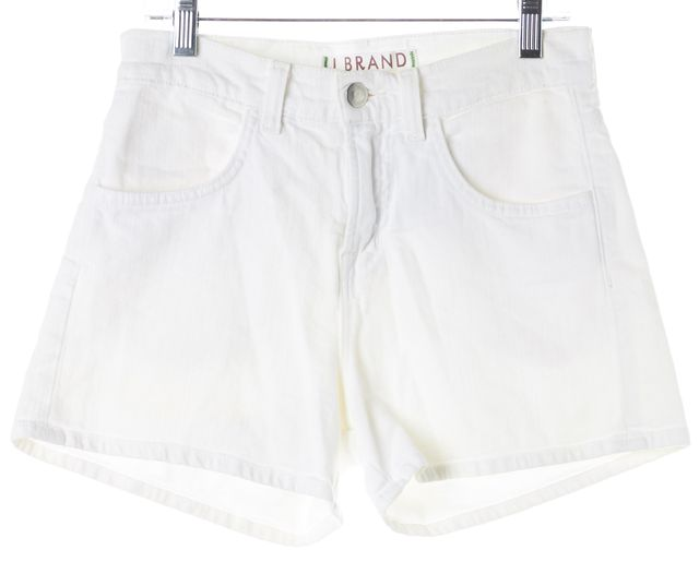 J BRAND #1242 White Stretch Cotton Dita Denim Shorts