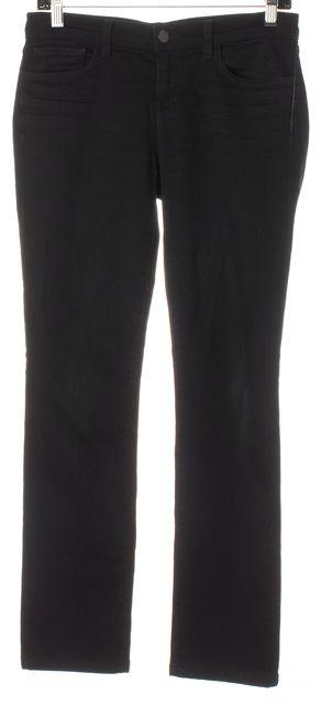 J BRAND #912 Shadow Black Stretch Cotton Denim Pencil Leg Skinny Jeans
