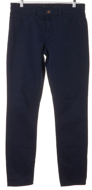 J BRAND #811 Navy Blue Stretch Cotton Mid-Rise Skinny Jeans